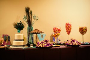 Candies and Brazilian desserts filled the dessert bar.