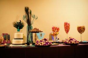 Candies and Brazilian desserts filled the dessert bar.