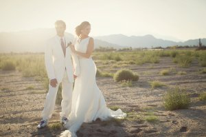 Ashleigh took my beautiful couple out to the desert for some post ceremony shots.