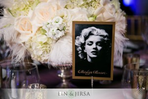 Old movie stars replaced table numbers.