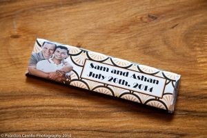 Customized Candy Bars from Cake and Art